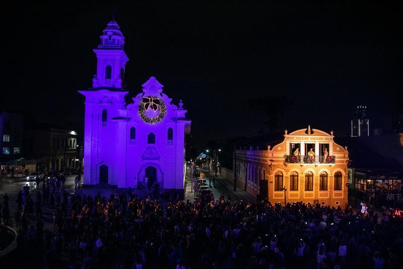Auto de Natal no Setor Histórico. Natal de Curitiba - Luz dos Pinhais 2019. Crédito: Daniel Castellano / SMCS. Todas as imagens devem ser obrigatoriamente creditadas.